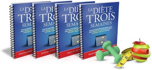 La diète 3 semaines : différents manuels d'apprentissage du programme de perte de poids global