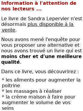 Comment grossir des seins naturellement, Sandra Lepervier
