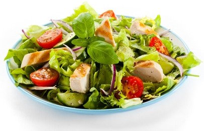 Exemple Assiète salade composée proposée dans le programme vieille méthode corps neuf