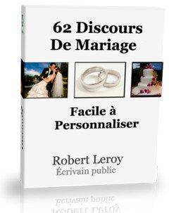 Ecrire son discours de mariage avec le livre de Roger Leroy : écrivain public