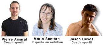 Les auteurs de la méthode supermusculation sont Pierre Amaral, Maria Santorn et Jason Devos