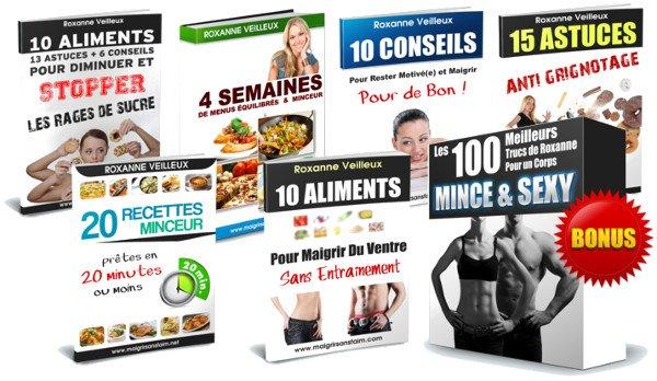 Plusieurs livres et méthode du programme régime sans faim