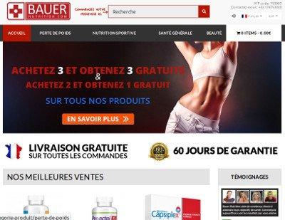 Avis Bauer Nutrition : une boutique de produits et de compléments en ligne