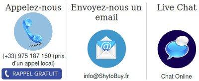Le service client est disponible par tchat mail et téléphone