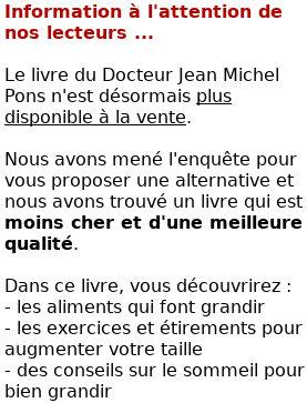 Grandir naturellement à tout âge, Jean Michel Pons