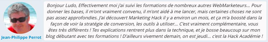 Avis client sur les stratégies de marketinghack créées par ludovic barthelemy