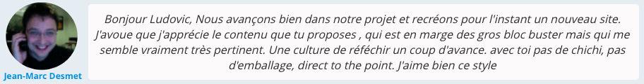 Témoignage client sur la formation de ludovic barthelemy de marketinghack.fr