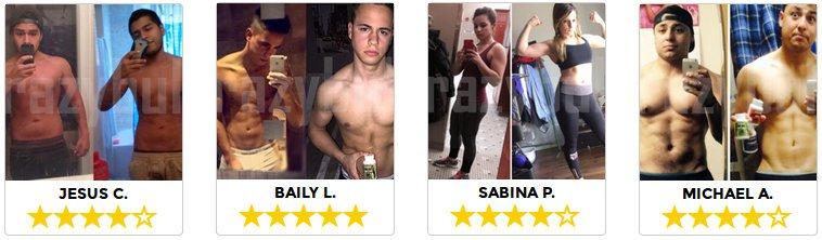 Les clients témoignent sur les resultats efficaces et leur satisfaction sur crazybulk.com