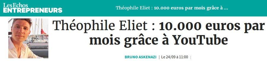 Theophile Eliet avis au sujet de cet entrepreneur en webmarketing