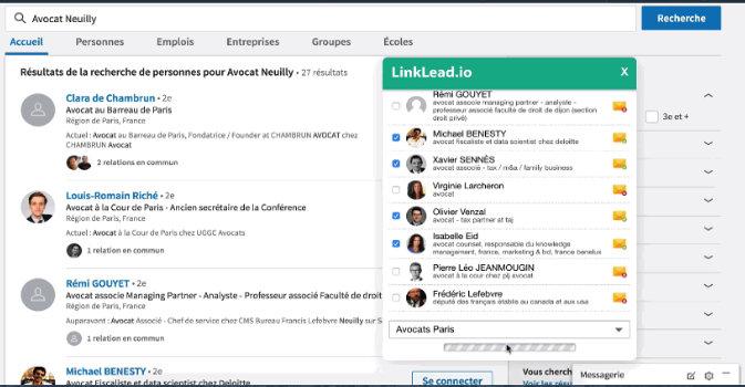 Avis pour extraire des emails de linkedin grâce à linklead.io