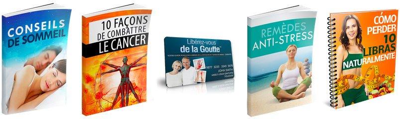 Livres bonus offerts par lewis parker pour soigner la goutte