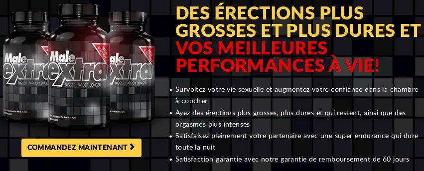 Male Extra offre des érections fortes grâce à des pilules naturelles