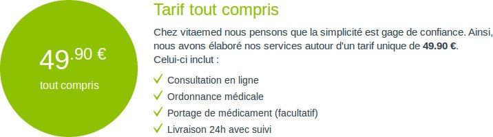 Tarif, rapport qualité/prix sur vitaemed