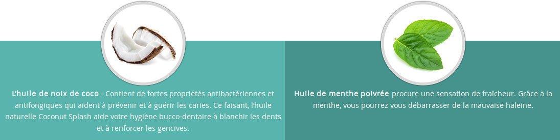 coconutsplash.net : avis sur les ingrédients pour aider à blanchir vos dents