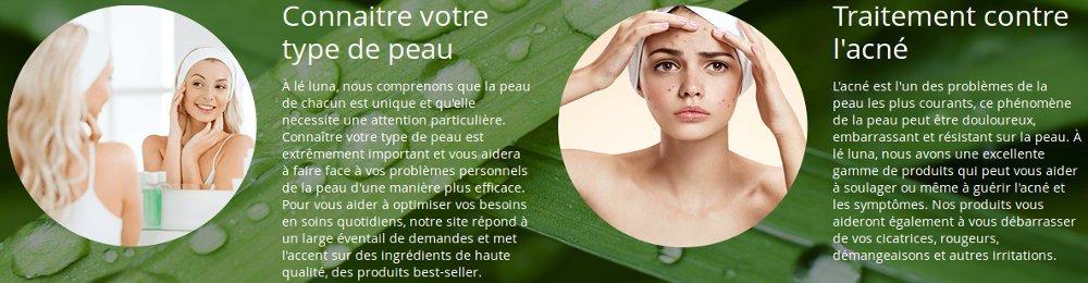 Découvrir les produits de beauté et soin du visage leluna.fr