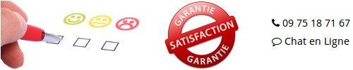Garantie satisfaction grâce au service client de qualité pour vous aider dans votre première commande