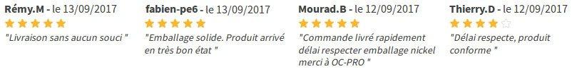 Témoignage et avis des clients sur manomano.fr au sujet du service, la livraison et ses produits