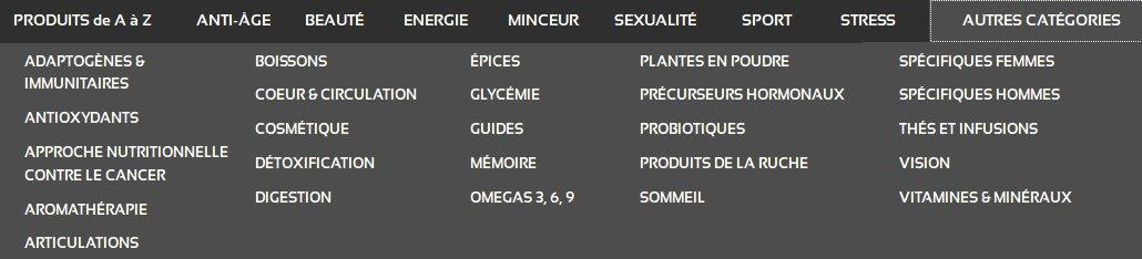 Large gamme de produits sur anastore en beauté, énergie, minceur et sport