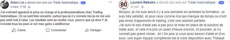 Avis et témoignages de clients de Trade-automatique.fr