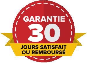 Garantie satisfait ou remboursé de 30 jours