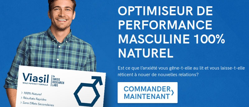 Viasil est un optimisateur de performance masculine 100% naturelle